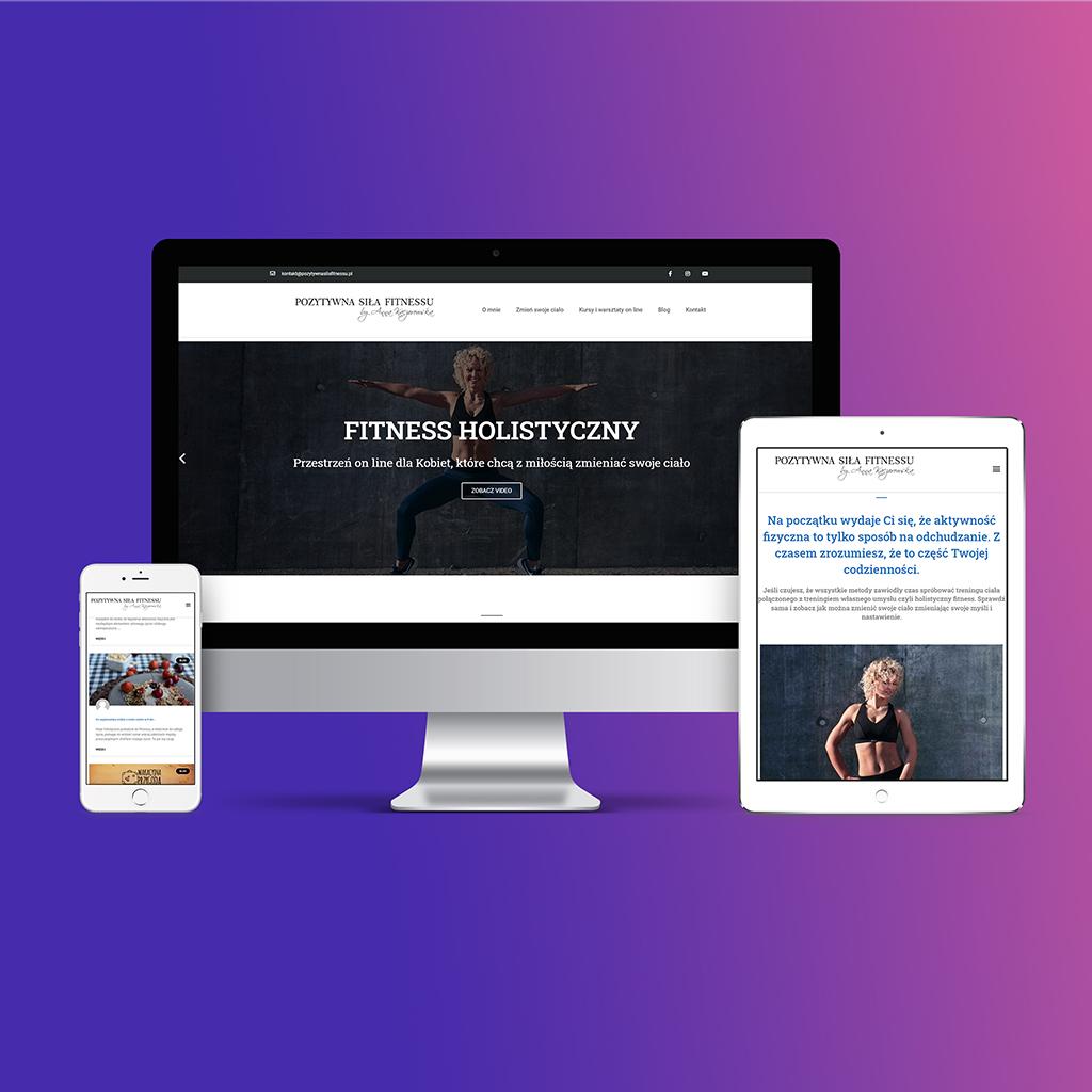 strona dla studia fitness