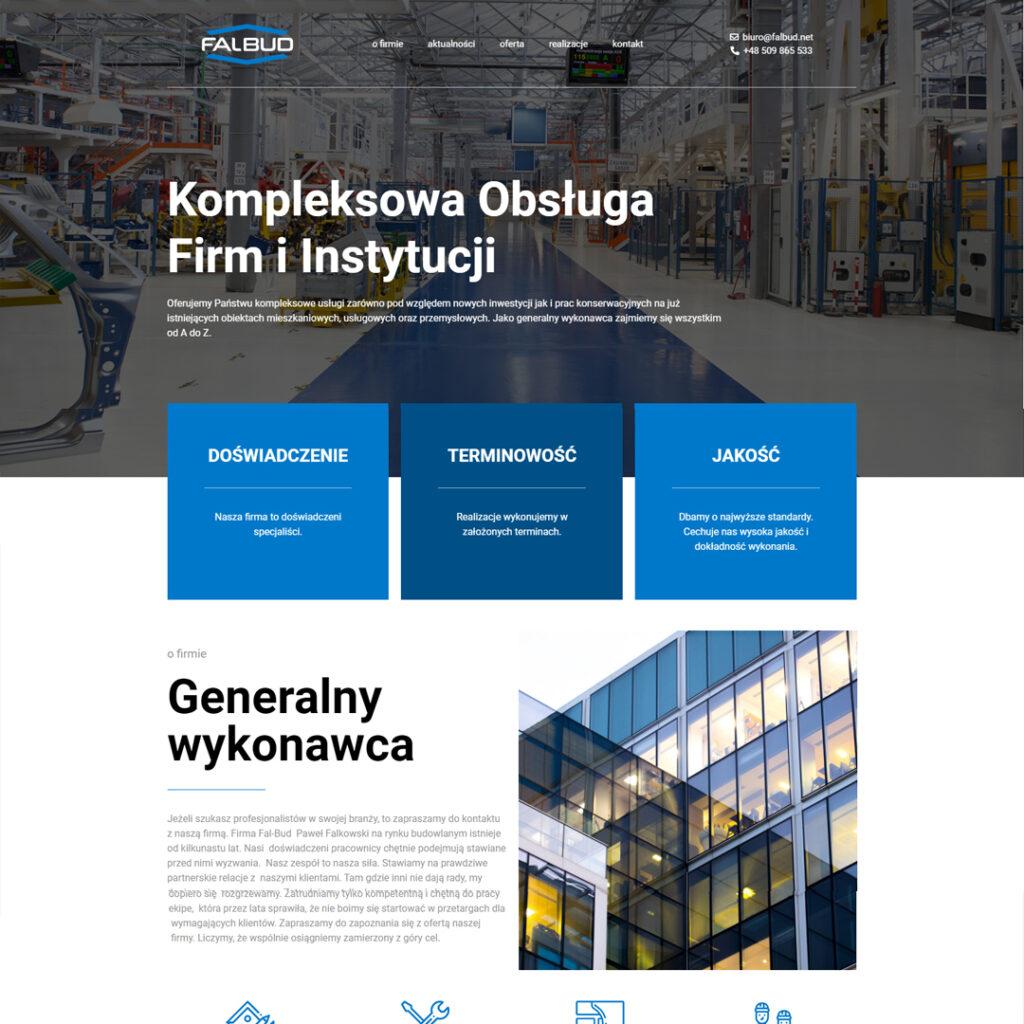 strona dla firmy budowlanej